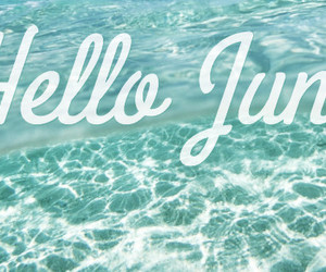 june, summer, and water image