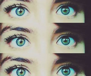 pretty, eyes, and girl image