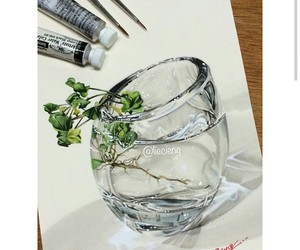 art, draw, and glass image
