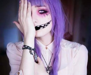 pastel goth, purple, and Halloween image