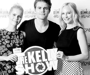 paul wesley, claire holt, and stefan salvatore image