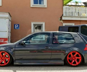 grey and red, vw, and mk4 image