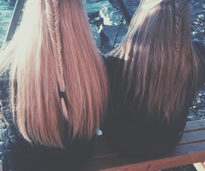 best friends, blonde, and braid image