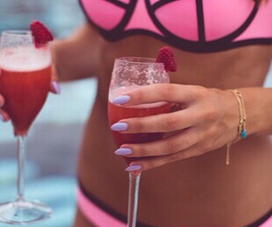drink, summer, and girl image