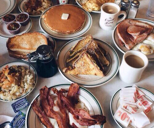 bacon, toast, and breakfast image