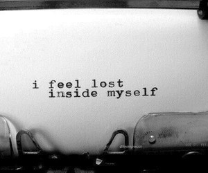 lost, sad, and black and white image