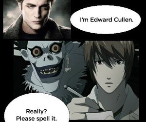 death note, edward cullen, and funny image
