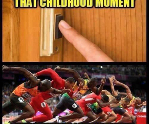 funny, childhood, and run image