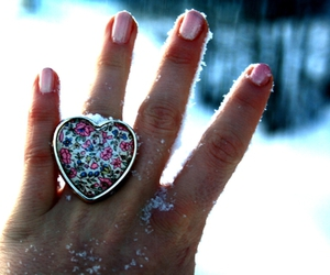 ring, nails, and snow image