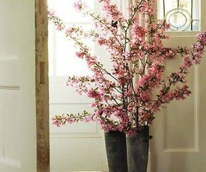 flowers, boots, and pink image