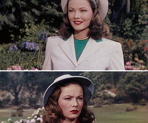 Gene Tierney, hair, and old image
