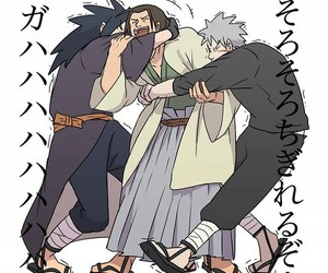 madara, hashirama, and tobirama image