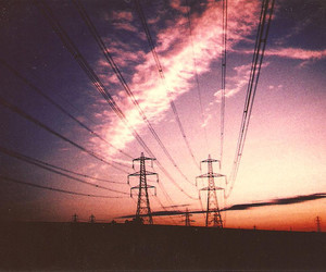 sky, sunset, and vintage image