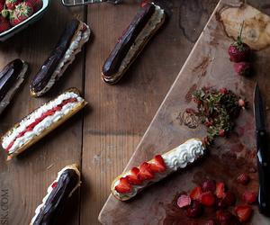 chocolate, dessert, and eclairs image