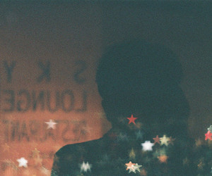 awesome, stars, and film grain image
