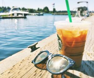 starbucks, summer, and sunglasses image