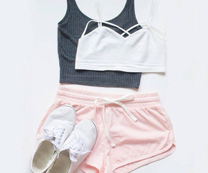 shoes, shorts, and tops image
