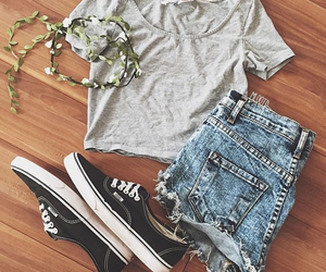 shorts, top, and vans image