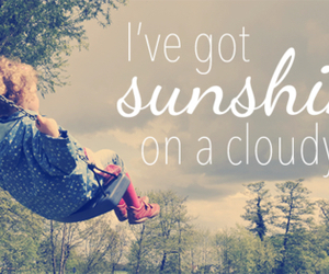 sunshine, swing, and cloudy image