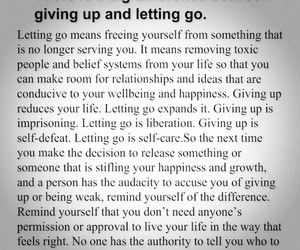 give up, inspire, and let go image