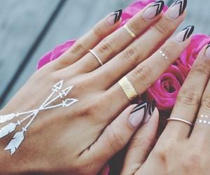 nails, chic, and fashion image