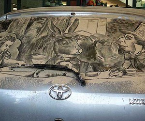 alice, mad hatter, and car image
