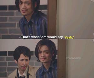 sam winchester, supernatural, and castiel image