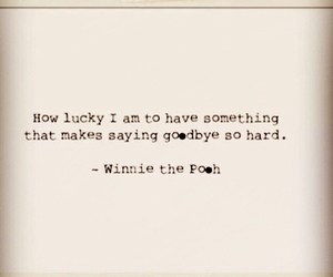 goodbye, lucky, and quote image