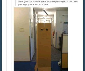 funny, tumblr, and box image