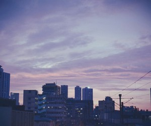sky, city, and grunge image