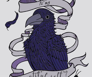 beautiful, crow, and drawing image