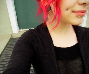 piercing and red hair image