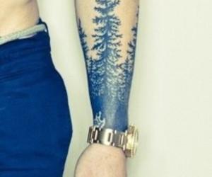 tattoo, tree, and boy image