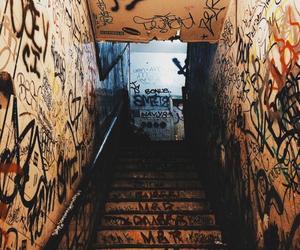 graffiti and stairs image
