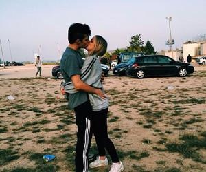 cool, kiss, and couple image