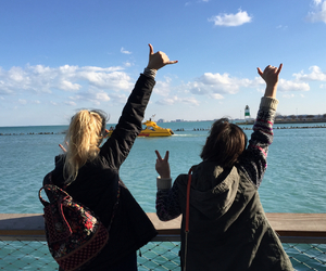 boats, friends, and chicago image