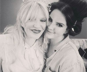 lana del rey and Courtney Love image