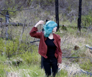 charlavail, blue hair, and girl image