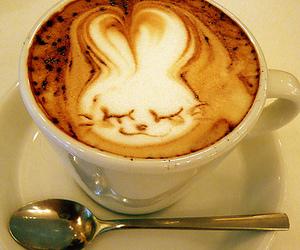bunny and coffee image
