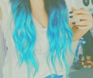 blue, hair, and curly image