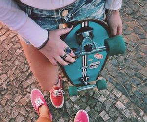 vans, skateboard, and summer image