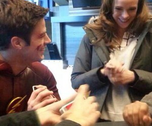 danielle panabaker, grant gustin, and snowbarry image