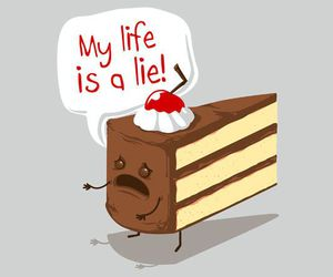 cake, cherry, and lol image