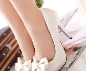bow, shoes, and white image