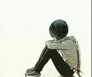 alone and anime image