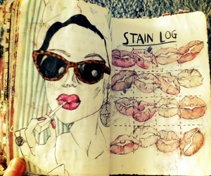 art, lipstick, and wreck this journal image