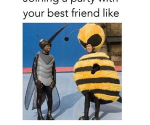 bee, friend, and friendship image