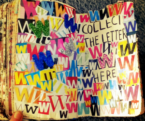 art, journaling, and Letter image