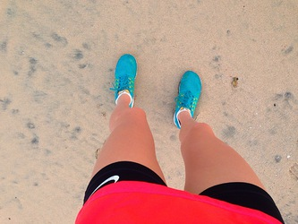 beach, fitness, and nike image