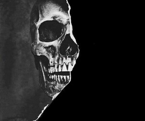 black, grunge, and skull image